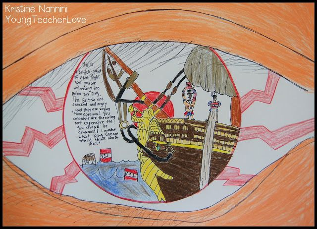 Point of View eyeballs- Students create a view from a particular perspective. Ex. How colonists viewed events leading to Revolutionary War