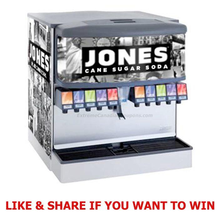 Free Jones Soda Fountain Machine Being Given Away – Enter Contest (12) Weekly Prizes: A case of Jones Soda Birthday Cake Soda, a Jones Soda Cinch Pack, Jones Soda T-Shirt and Jones Soda Skate…
