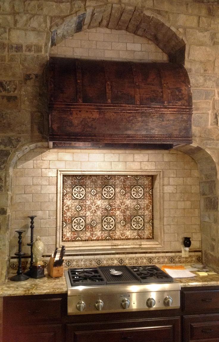 36 best tile images on pinterest tiles mosaics and backsplash tile elegant kitchen backsplash created with amaretti pattern in earth kitchen designed by cindy aplanalp
