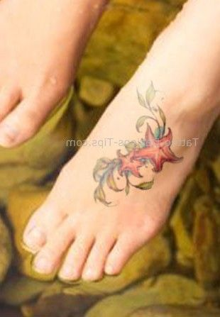 cute starfish tattoo designs