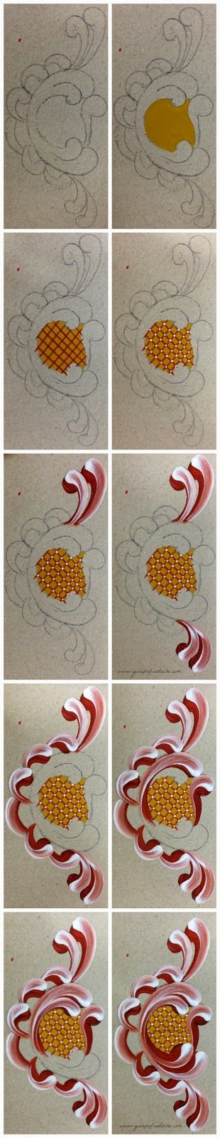 Embellished Design - Template & Painting Tutorial