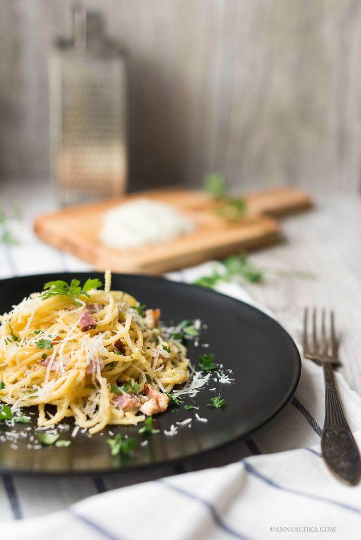 Pasta alla carbonara (not authentic but so good!)