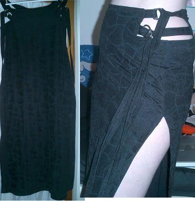 LIP SERVICE Soft Cell long skirt #29-35 - black