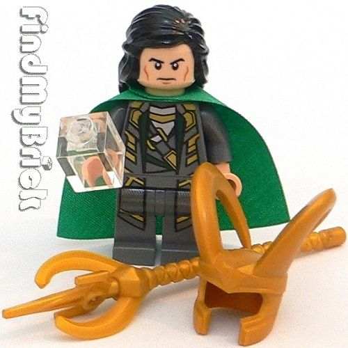 Lego Marvel Super Heroes Loki Minifigure With Accessories   NEW 6869 6868  6867