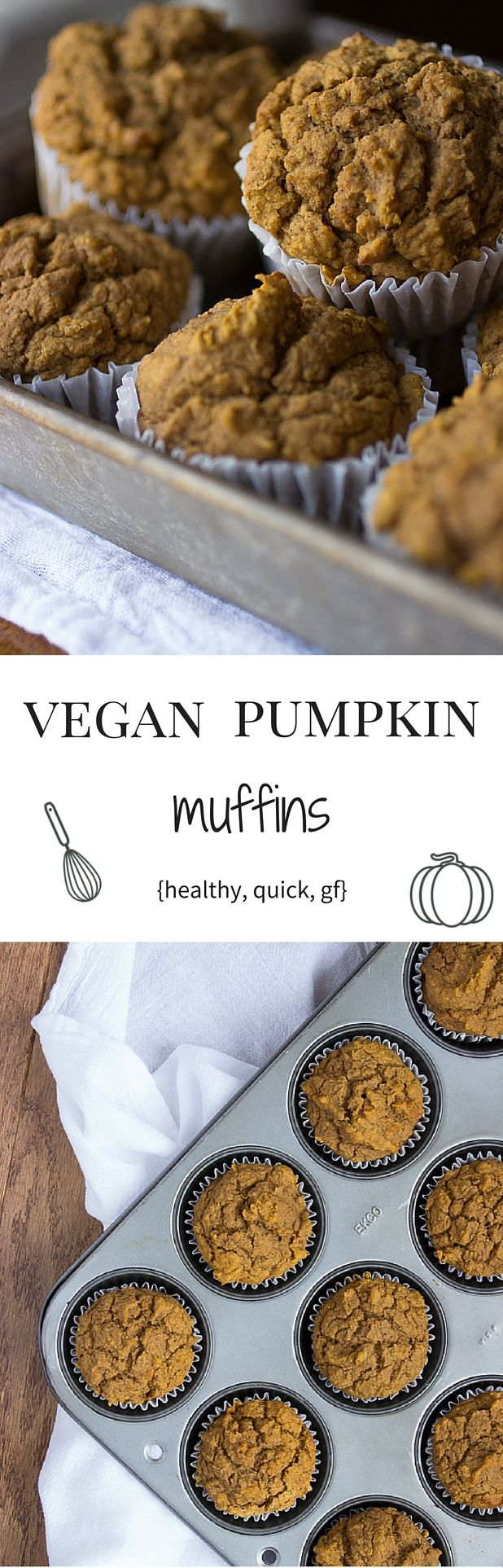 'tis the season! Discover our healthy vegan pumpkin muffins with a gluten free option. No white sugar!