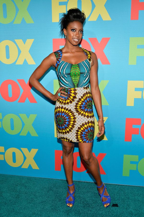 Splurge: Condola Rashad's FOX 2014 Programming Presentation Boxing Kitten Ankara Billie Cutout Dress