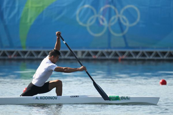 Angel Kodinov of Bulgaria competes in the Men's Canoe Single 1000m Heat 3 on Day 10 of the Rio 2016 Olympic Games at Lagoa Stadium on August 15, 2016 in Rio de Janeiro, Brazil.