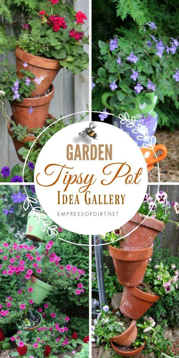Tipsy Pots Topsy Turvy Towers Ideas