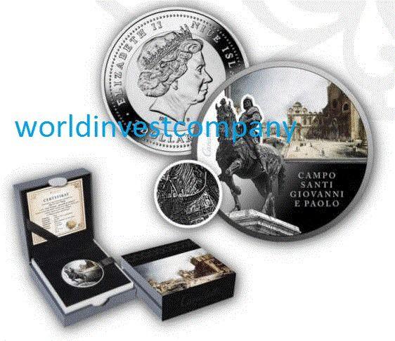 Niue 2016 Campo Santi Giovanni e Paolo S.O.S. Venice $20 Silver Coin NEW!!!!!!