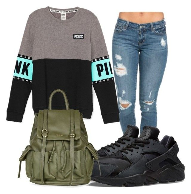 """Two Hour Delay Outfit"" by reonnnnaaa ❤ liked on Polyvore featuring NIKE and Topshop"