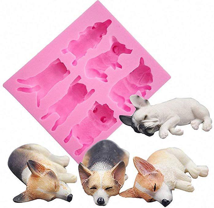 French Bulldog Model Silicone Mould DIY Silicone Fondant Baking Tools