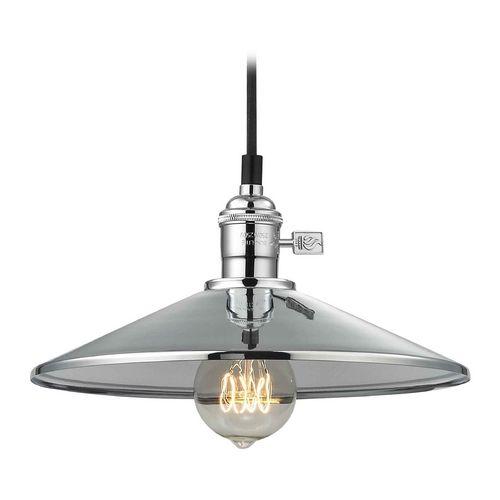 retro hoyt polished chrome cone shade mini pendant light vintage minis and design. Black Bedroom Furniture Sets. Home Design Ideas