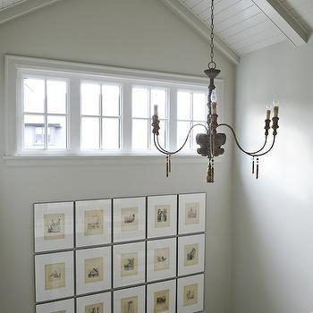 Second Floor Landing Art, French, entrance/foyer, Tracey Ayton Photography