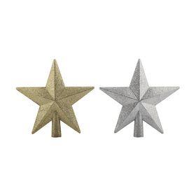 20cm Glitter Star Tree Topper - Assorted