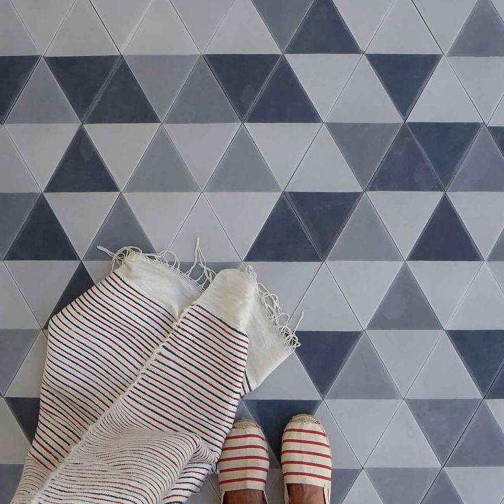 Popham black, grey, white floor tiles