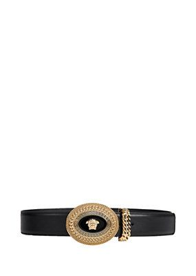 Versace - Belt with Two-Tone Medusa Buckle