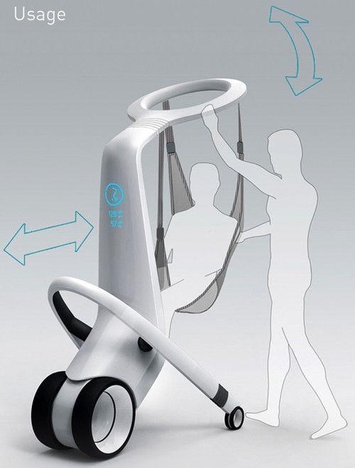 MediRobot, futuristic technology, transport Hospital Patients