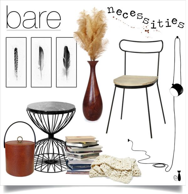 bare necessities by nonamecatvintage on Polyvore featuring interior, interiors, interior design, home, home decor, interior decorating, fferrone design, Flos and MCM