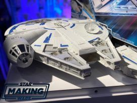 Our friend Eric Cameron is covering New York Toy Fair for us today. Our first update will be on the new Hasbro Millennium Falcon from Solo: A Star Wars Story ! The Falcon comes with a Han Solo figures as well as a transport ship that connects to the Falcon. Eric also took video of the Falcon and …