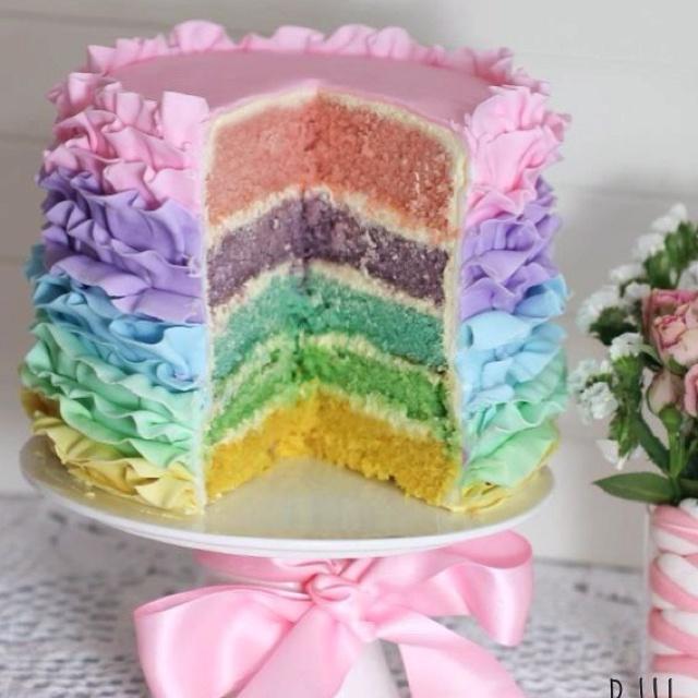 "Easter Pastel ""rainbow"" cake"