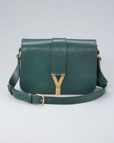 Authentic YSL Yves Saint Laurent Medium Chyc Flap Box Bag in Dark ...