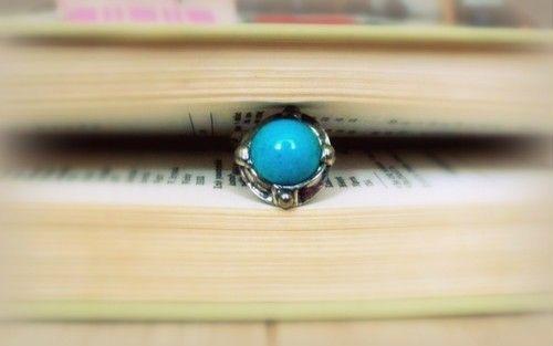 http://megasilver.pl/Pierscionek-p294 #ring #metalwork #handmade #blue #turquoise #stone #jewelry #jewellery