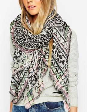 Pieces Jowi Oversized Blanket Scarf