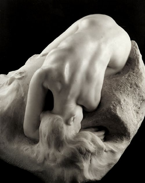 """Danaïd"" 1885 (modeled after his assistant and lover, Camille Claudel) : Auguste Rodin"