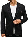 BOLF Herren Sakko Anzug Sweatjacke Jacke Classic Blazer Slim Fit Mix 4D4 Casual