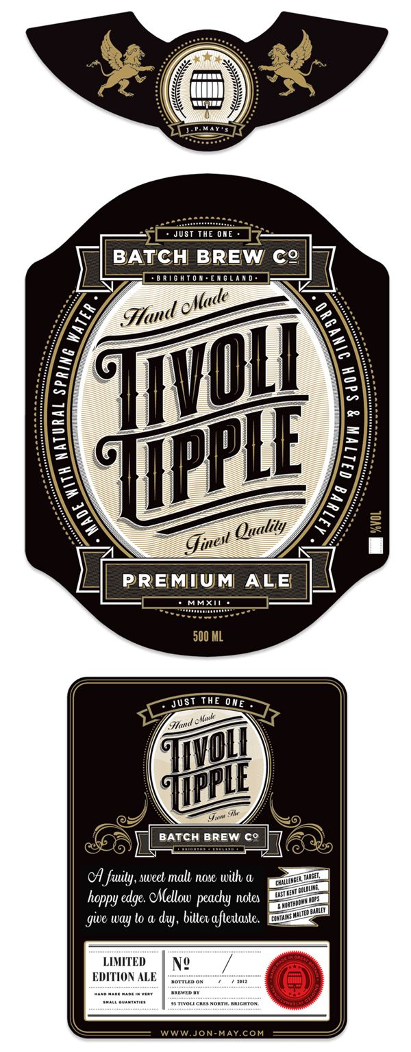Tivoli Tipple Ale by Jon May, via Behance