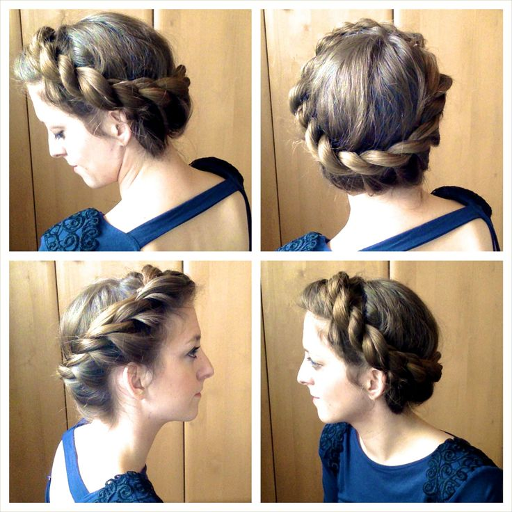 How to do a Halo Braid on yourself.