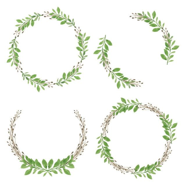 watercolor wreath with green leaf circle frame watercolor floral circle png and vector with transparent background for free download em 2020 flores em aquarela aquarela floral flor aquarela watercolor wreath with green leaf