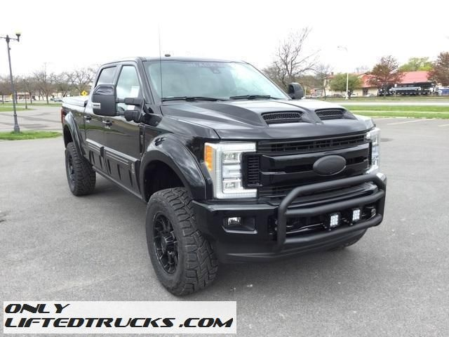 Black OPS 2017 Ford F250 Lariat Diesel Lifted Truck For Sale in Geneva