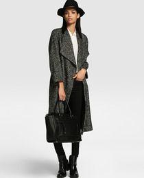 Abrigo largo de espiga de mujer Tintoretto