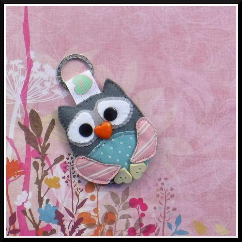 keyring keychain ornament owl