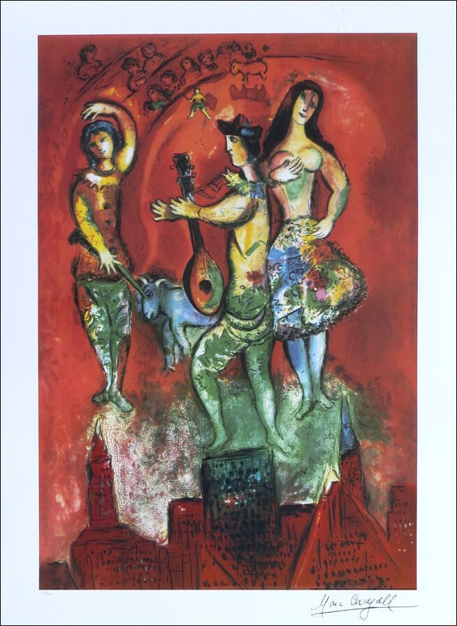 Marc Chagall Carmen Litho Print Signed Numbered Coa Free Ship