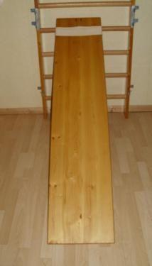Sprossenwand + Schrägbrett aus Holz 10 Sprossen, ca. 209x80x14 (21) cm Sprossenwand als ideales...,Sprossenwand + Schrägbrett aus Holz in Kiel - Suchsdorf