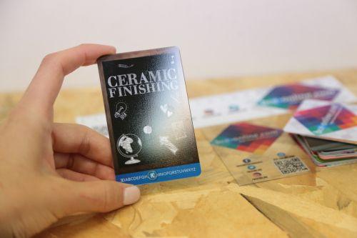Visitenkarten drucken wir für Sie auf Transparente PVC & Papier - Plastikkarten