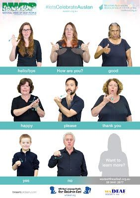 Free Auslan Posters - National Week of Deaf People