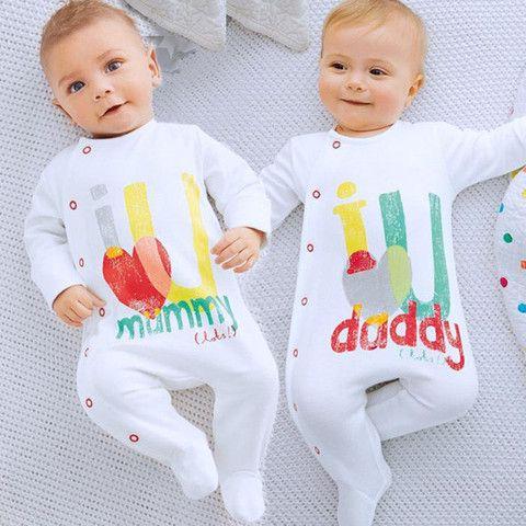 Infant Newborn Unisex Onesie O-Neck Long Sleeve Letter Print Soft Jumpsuit One Piece Baby Girls Baby Boys $11.99 CAD