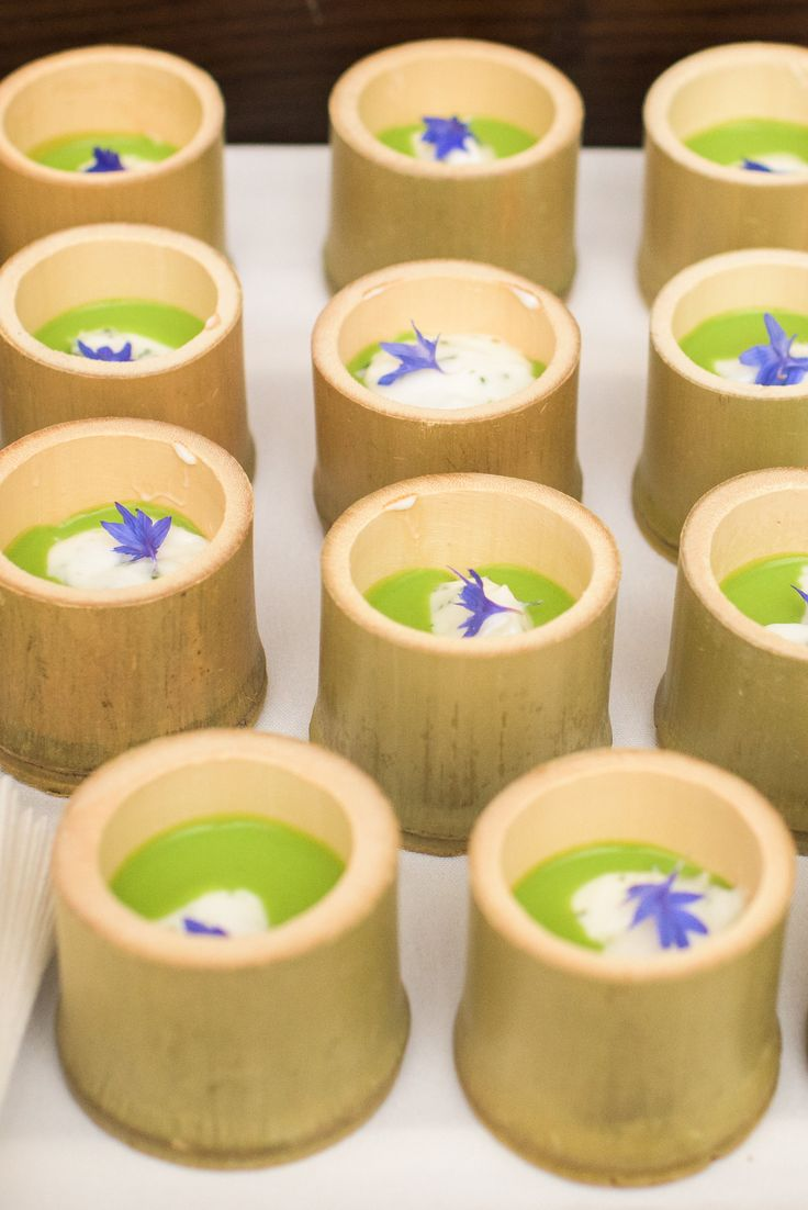 Chilled English Pea Velouté | minted frozen yoghurt |