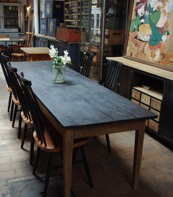 Ancienne table d'atelier en sapin - Début XXéme - par le Marchand d'Oublis