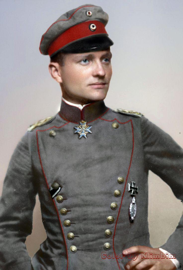 Manfred von Richthofen, , 1914-1918, via reddit - Historical Times