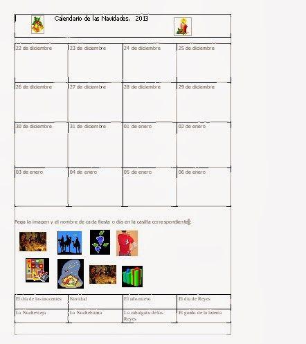 Les quichotteries de Delphine: Calendario Navidad