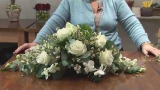 How To Do A Funeral Flower Arrangement, via YouTube.