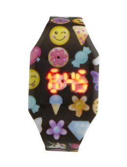 Emoji Printed LED Watch