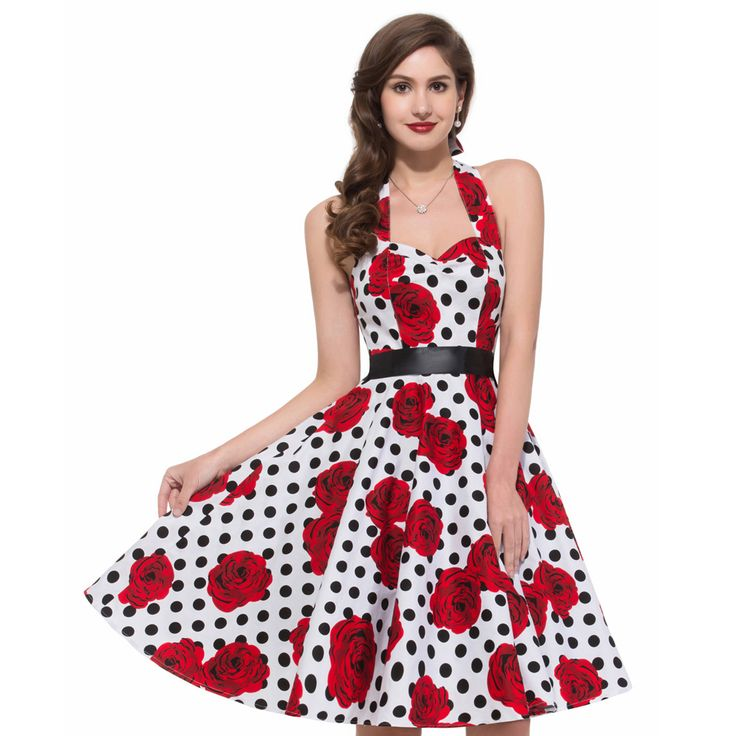 Summer Style 1960s 50s Vintage Rockabilly Audrey Hepburn Swing ...