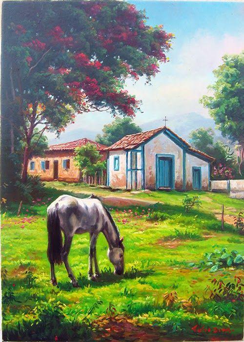 """Aqui a trajetoria de 2013 Tulio Dias """"Paisagem em Minas Gerais"""" 70x120- Oléo sob Tela- 2013 Tulio Dias """"Cachoeira do S..."""