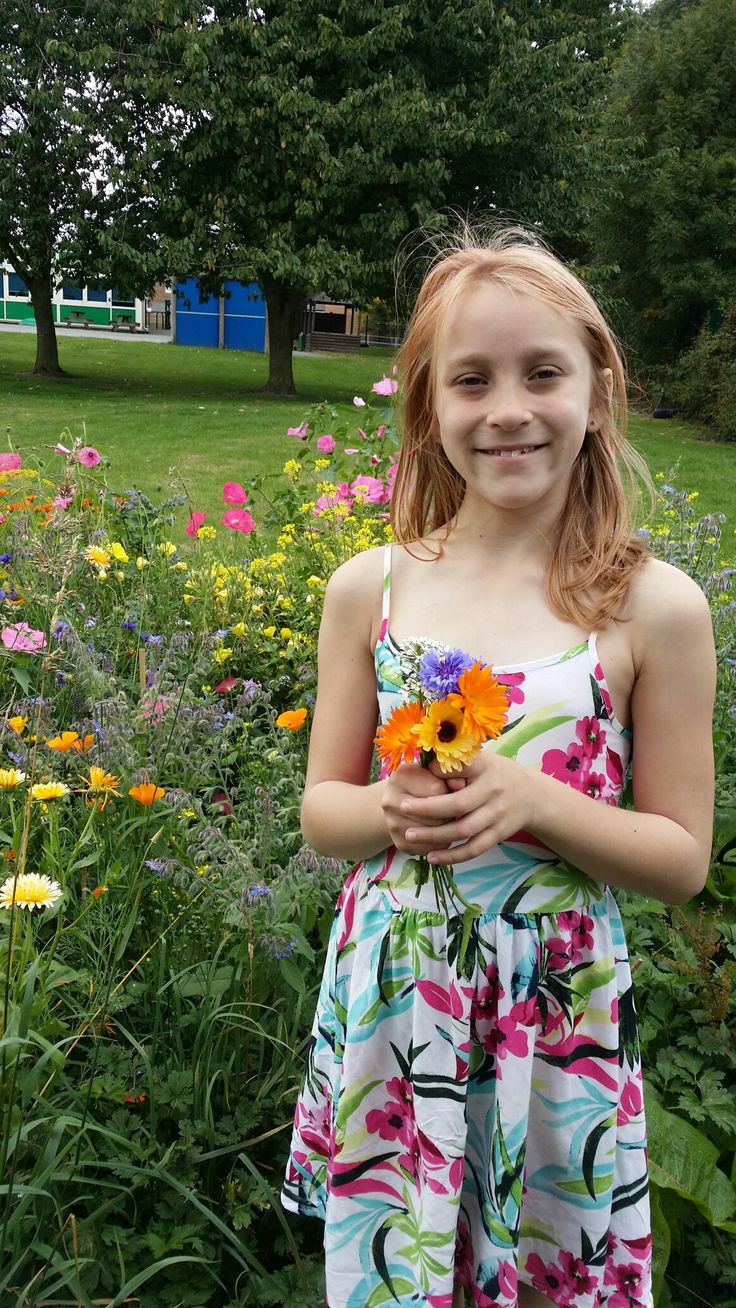 collecting wildflowers