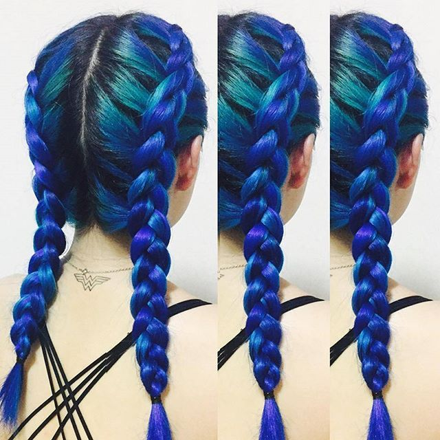 Beautiful blue #ManicPanic hair of @kissed__her. Get your hair colours here…